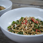 Sesame Noodles with Bok Choy