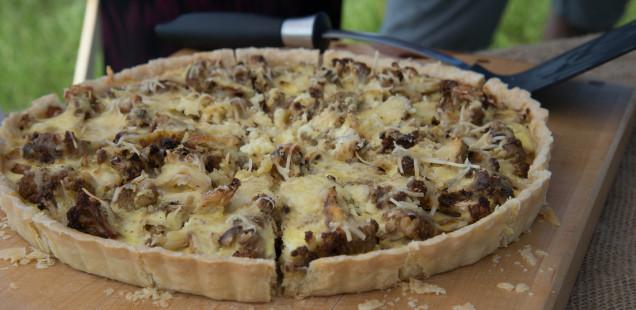 Onion cauliflower tart