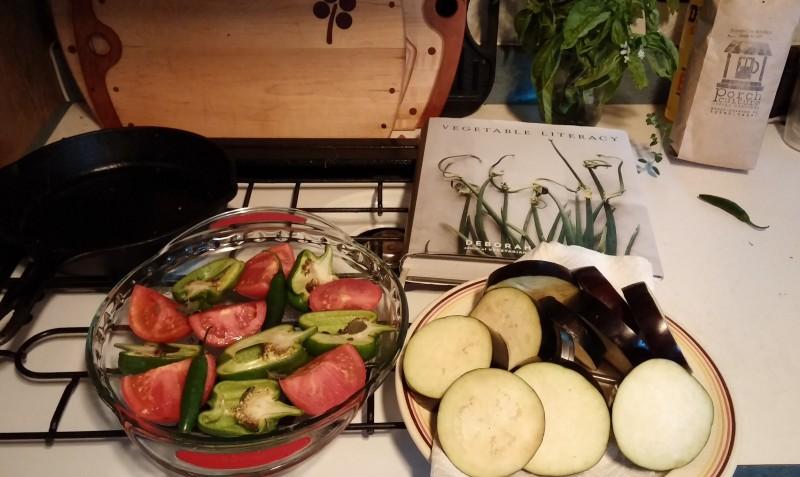 prepping ingredients