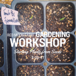 Announcing: Gardening Workshops!